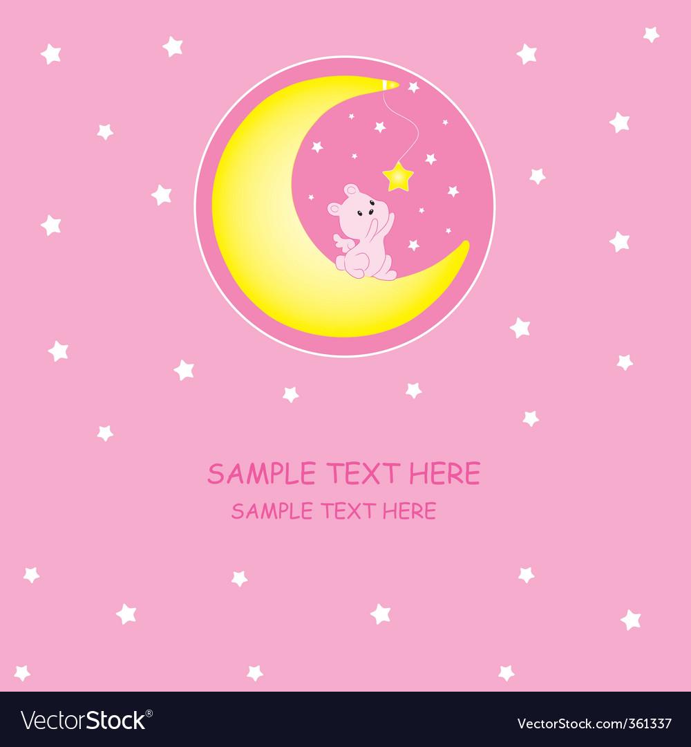 Rabbit moon vector | Price: 1 Credit (USD $1)