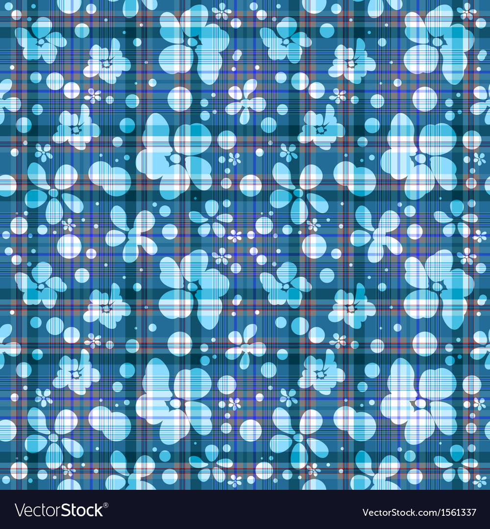 Repeating blue checkered patter vector | Price: 1 Credit (USD $1)