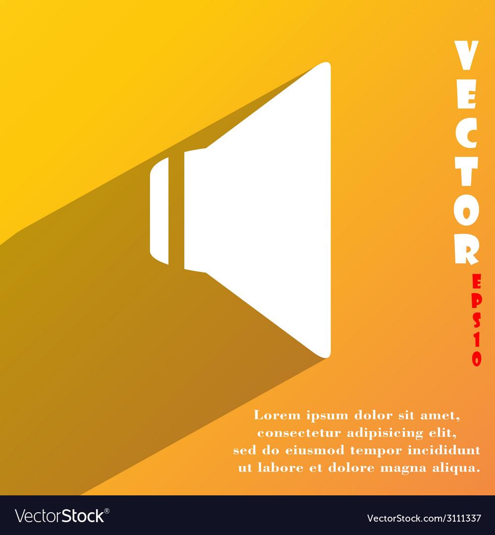 Speaker volume icon symbol flat modern web design vector   Price: 1 Credit (USD $1)