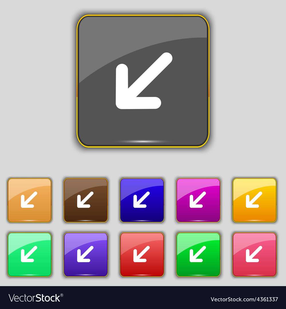 Turn to full screenicon sign set with eleven vector | Price: 1 Credit (USD $1)