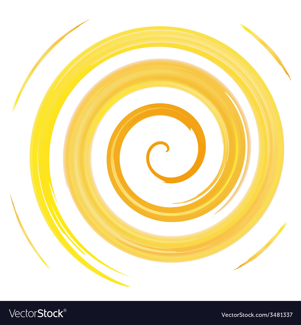 Yellow watercolor spiral vector | Price: 1 Credit (USD $1)