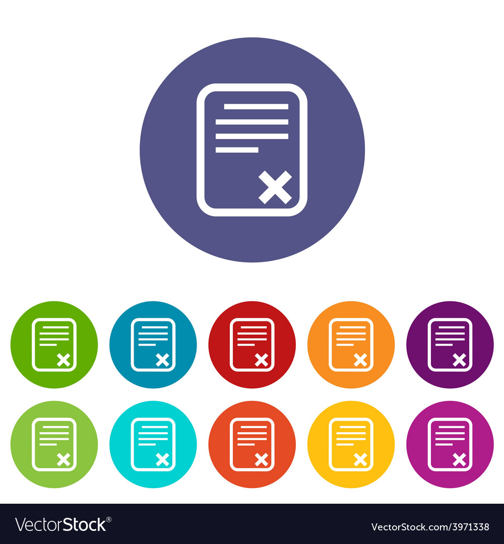 Bad document flat icon vector | Price: 1 Credit (USD $1)