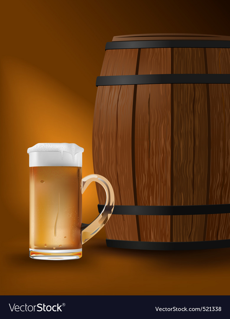 Beer barrel vector | Price: 3 Credit (USD $3)