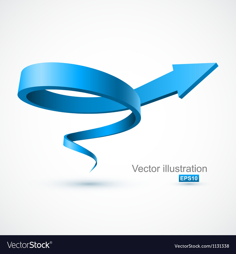 Blue spiral arrow 3d vector | Price: 1 Credit (USD $1)