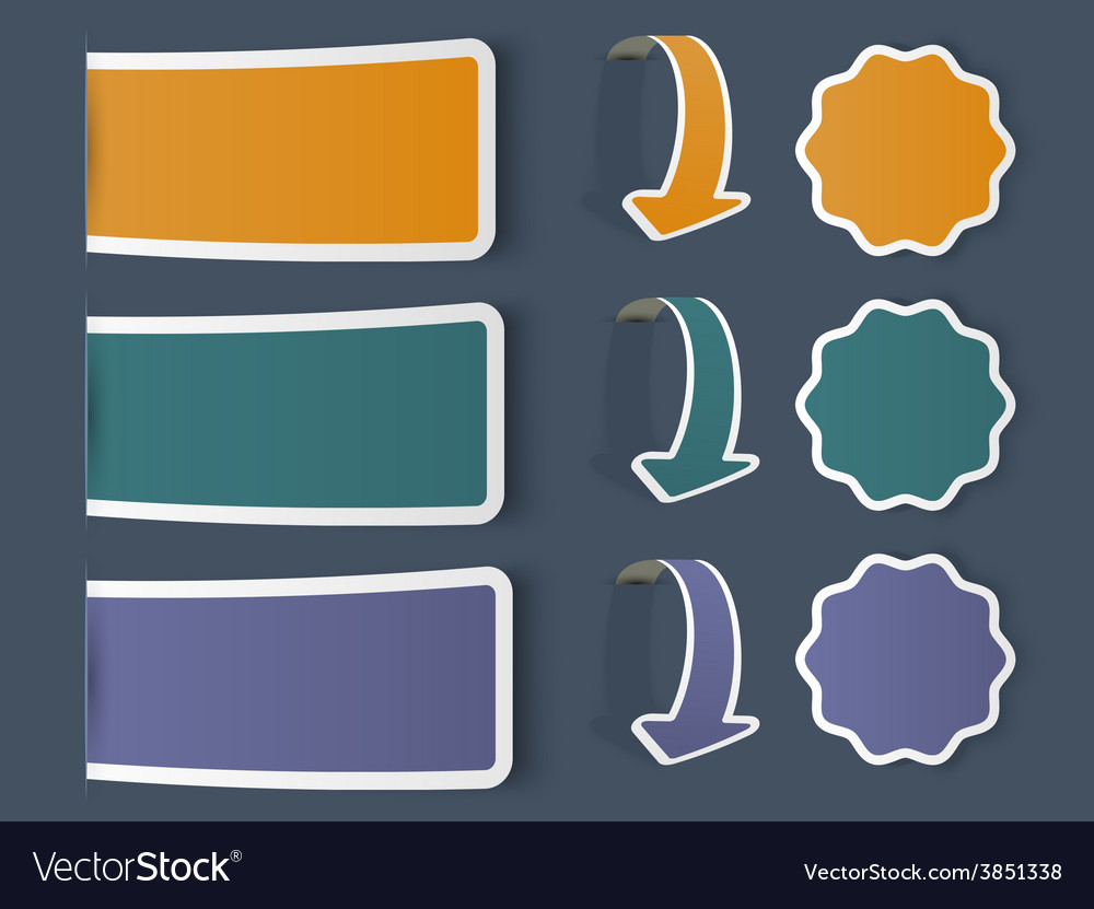 Colorful web stickers tags and labels vector | Price: 1 Credit (USD $1)
