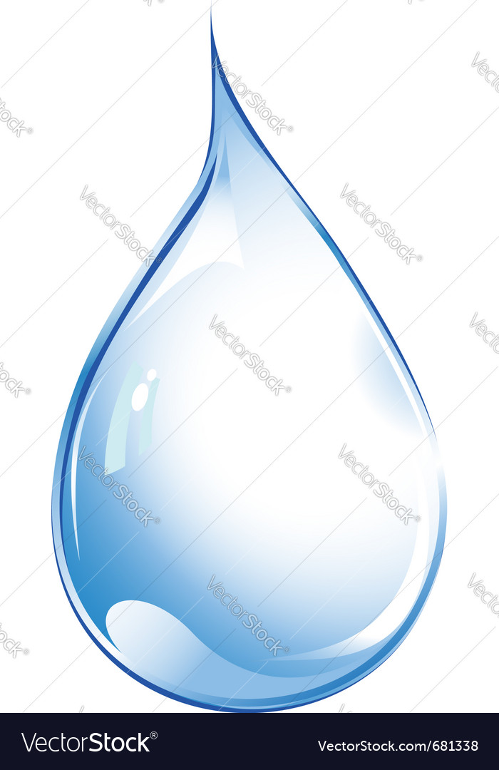 Crystal water drop vector | Price: 1 Credit (USD $1)