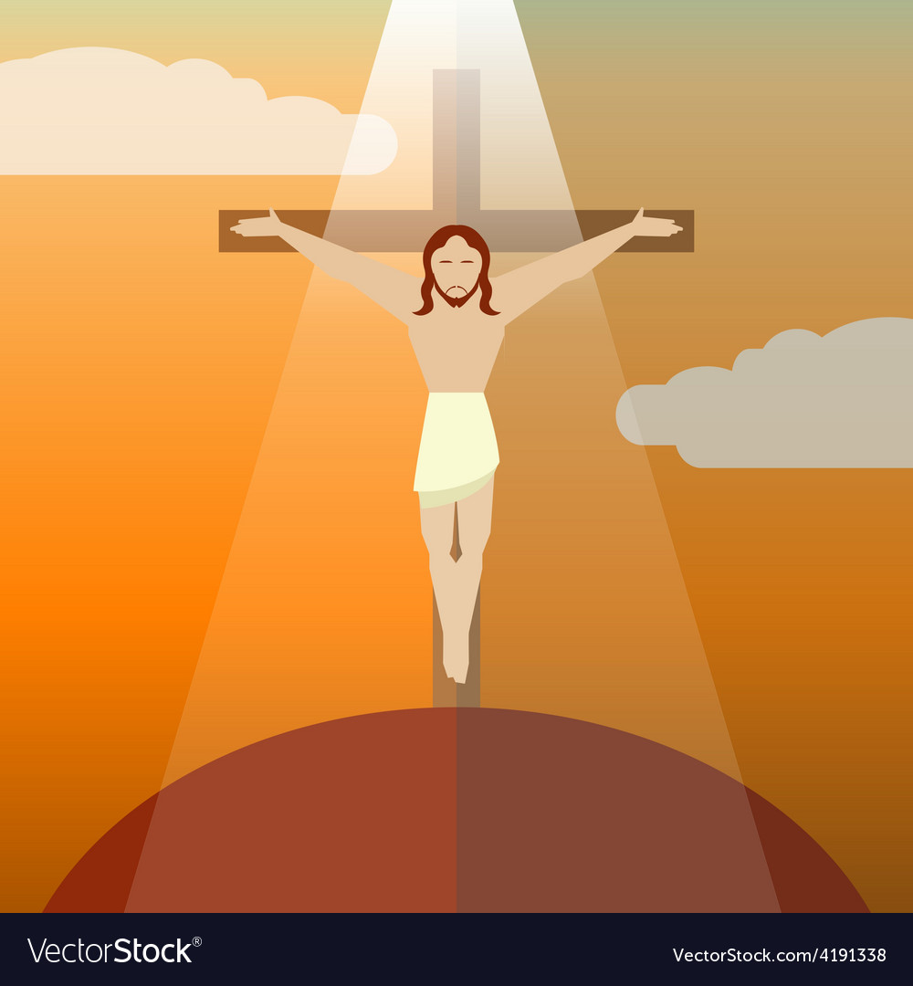 Flat icon jesus3 vector | Price: 1 Credit (USD $1)