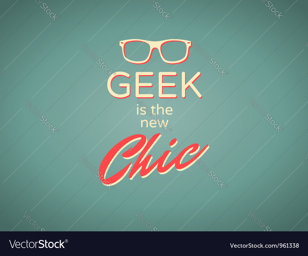 Geek chic vector | Price: 1 Credit (USD $1)