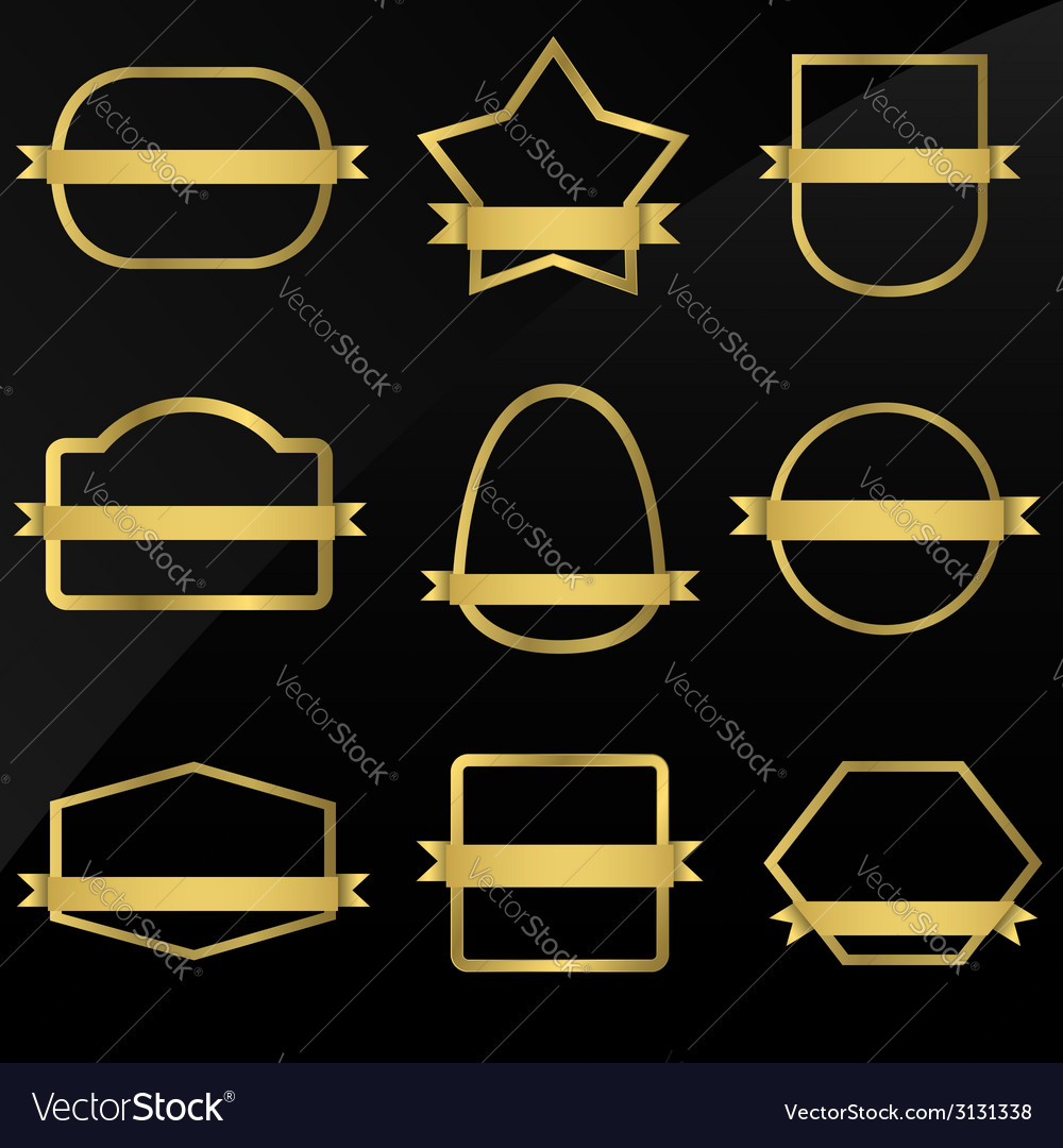 Golden frames vector | Price: 1 Credit (USD $1)