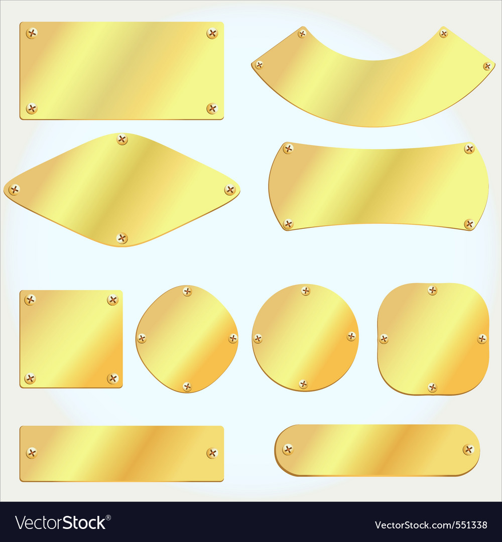 Golden plates vector | Price: 1 Credit (USD $1)