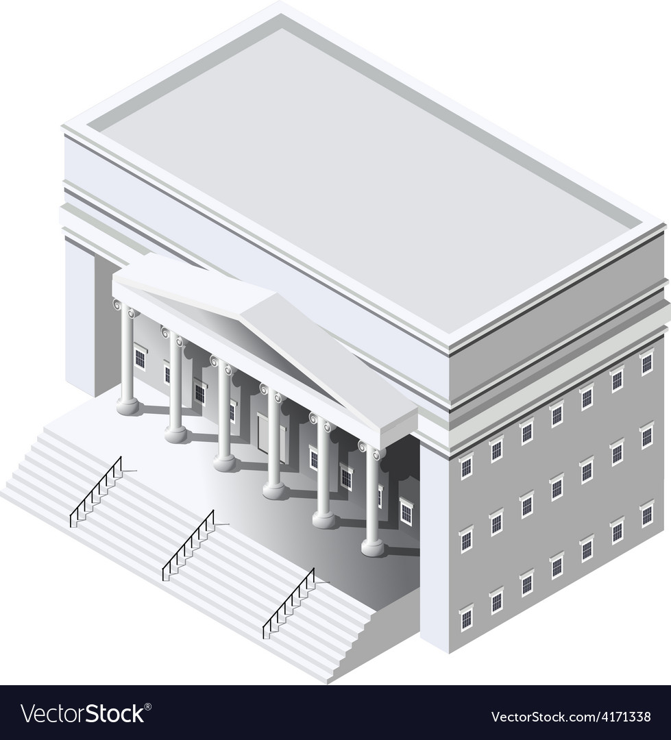 Isometric government building vector