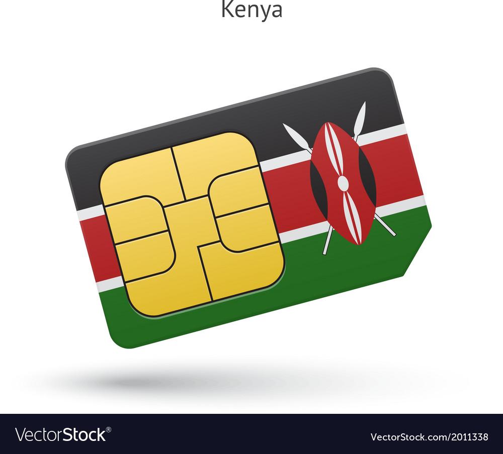 Kenya mobile phone sim card with flag vector   Price: 1 Credit (USD $1)