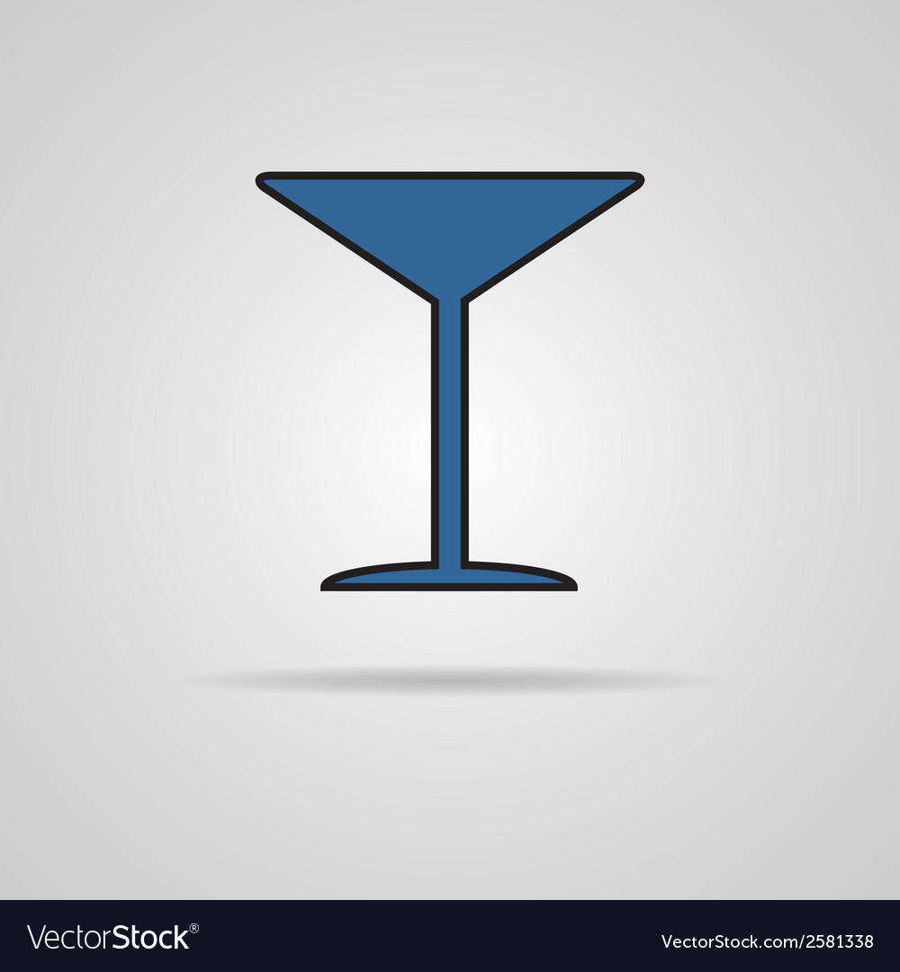 Martini glass icon vector | Price: 1 Credit (USD $1)