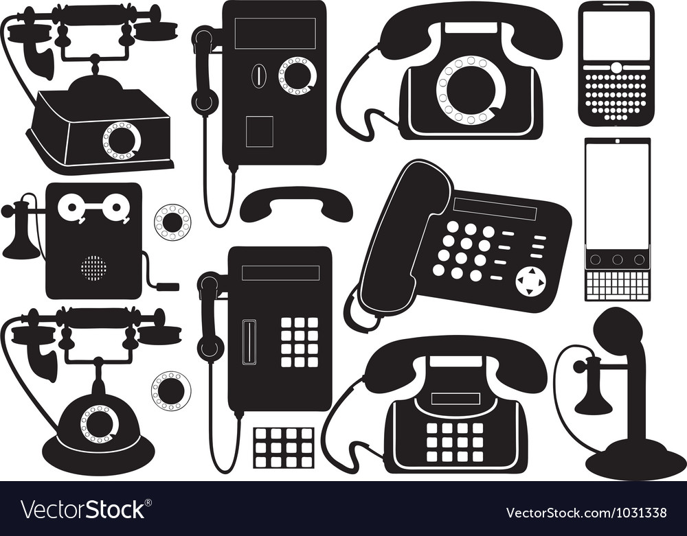 Mobile and public phones vector | Price: 1 Credit (USD $1)