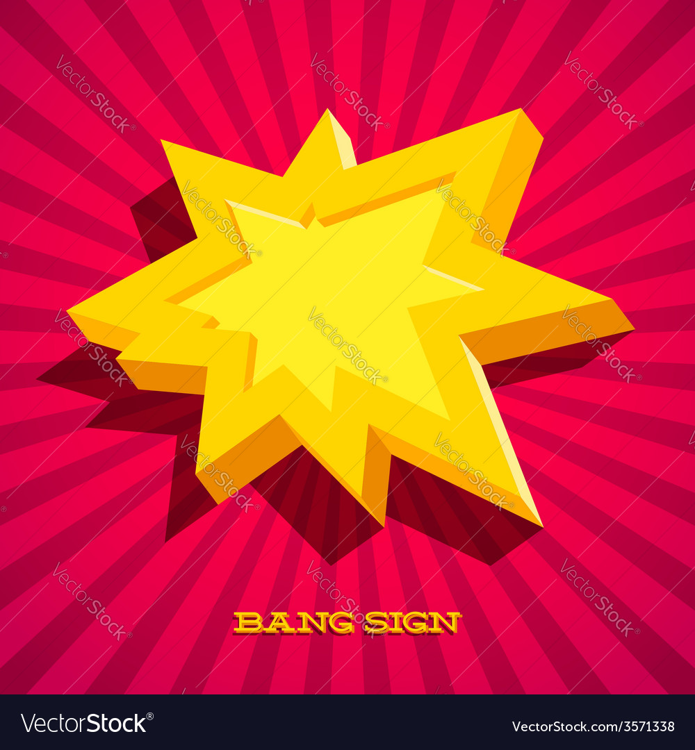 Retro card with explosion sign vector | Price: 1 Credit (USD $1)