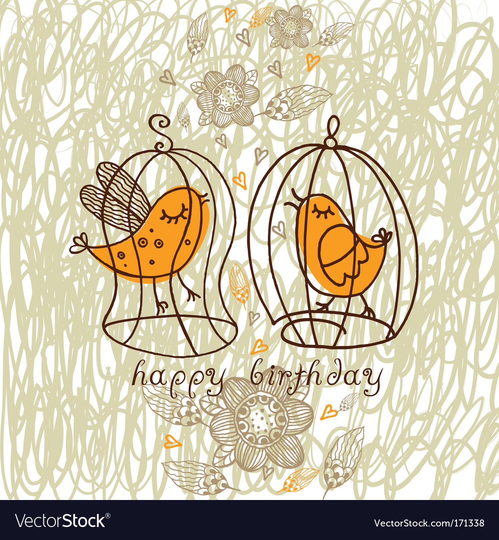 Romantic birds vector | Price: 1 Credit (USD $1)