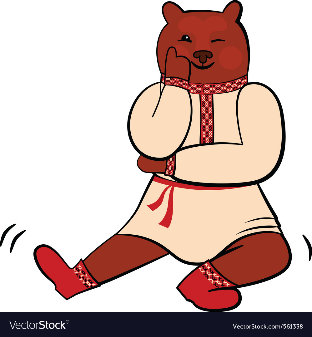 Russian bear vector | Price: 1 Credit (USD $1)