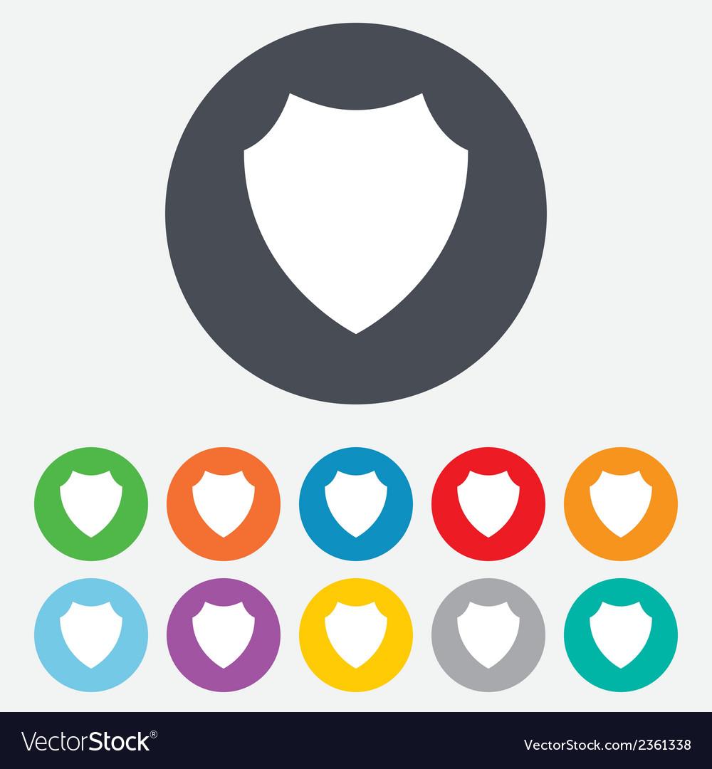 Shield sign icon protection symbol vector | Price: 1 Credit (USD $1)