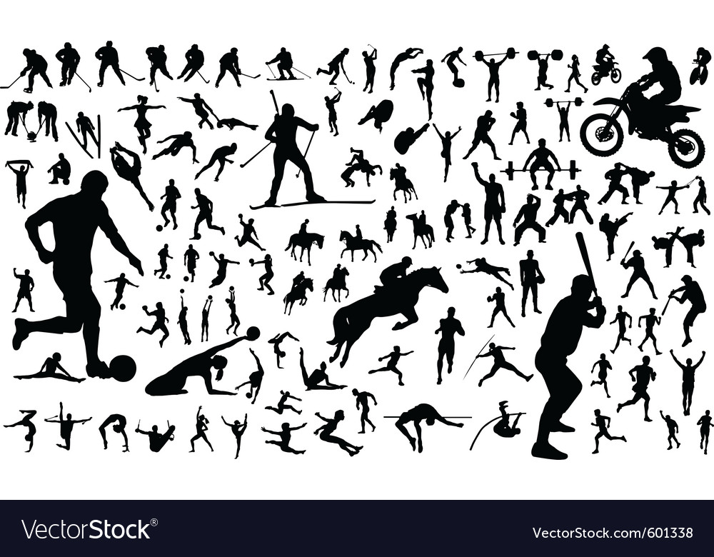 Sports people vector | Price: 1 Credit (USD $1)