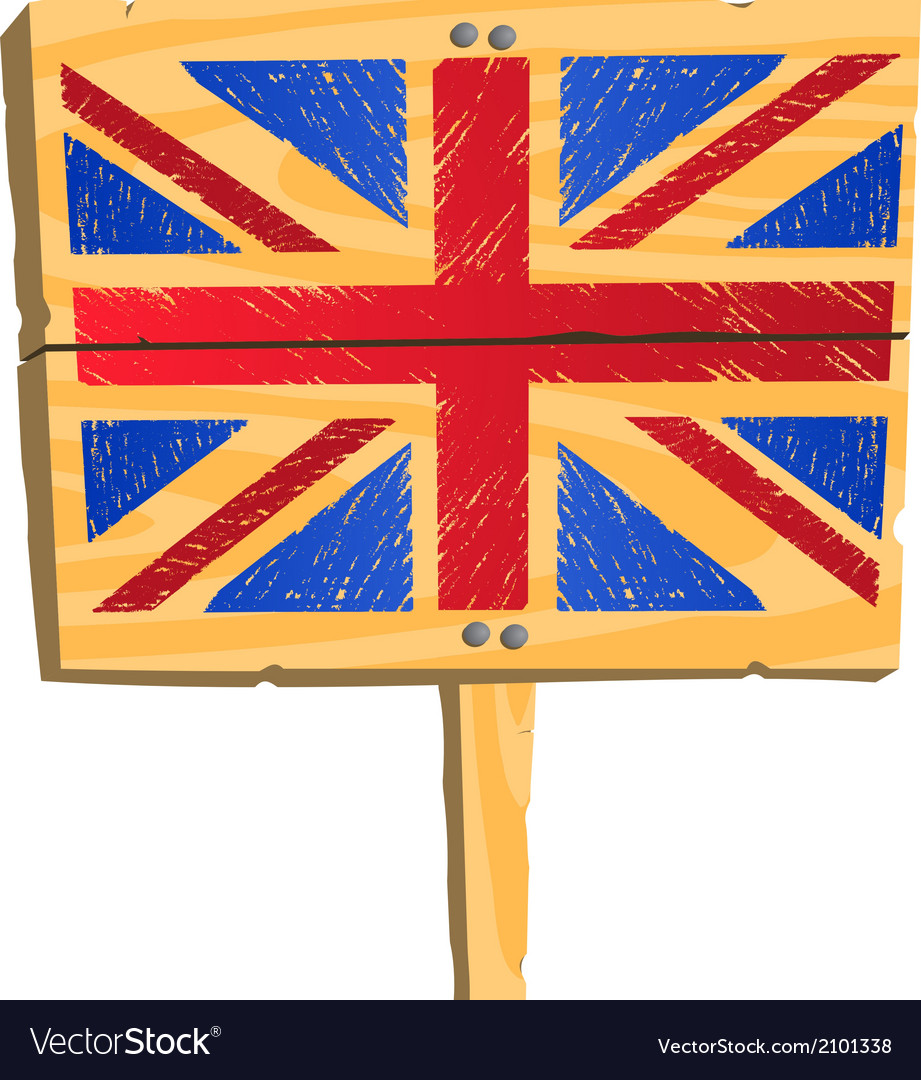 Wooden plate with british flag vector   Price: 1 Credit (USD $1)