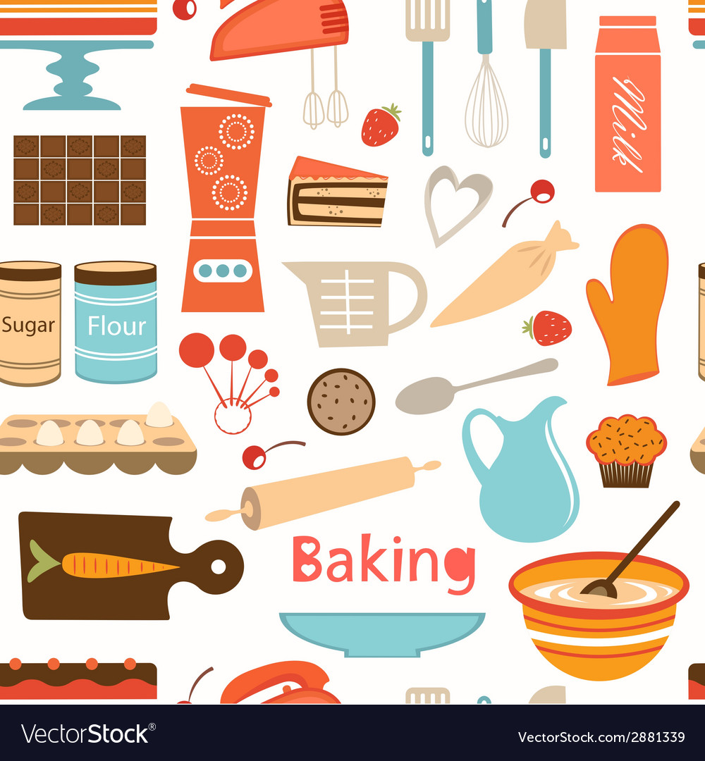 Baking wallpaper vector | Price: 1 Credit (USD $1)