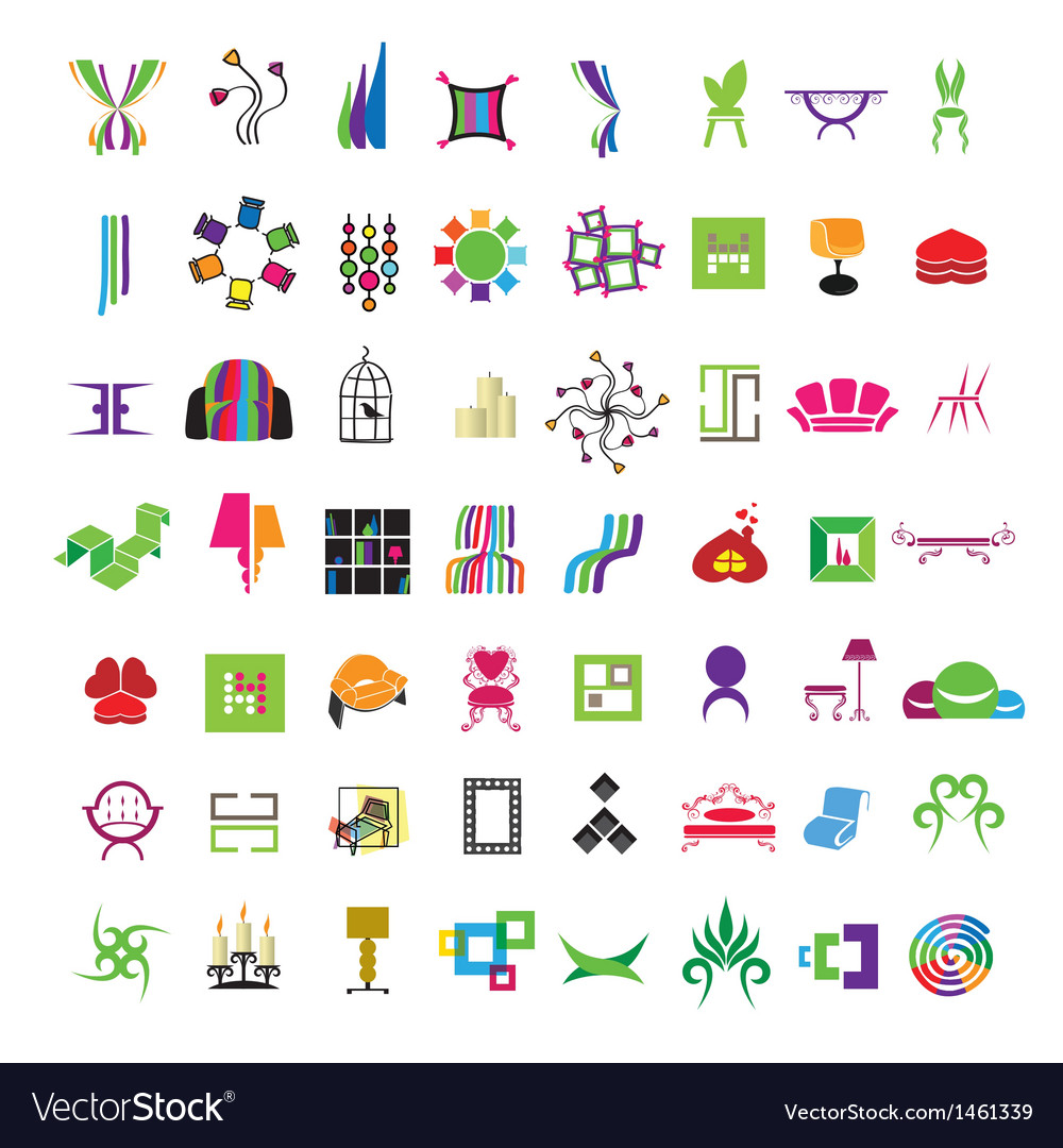 Collection of icons of furniture vector | Price: 1 Credit (USD $1)