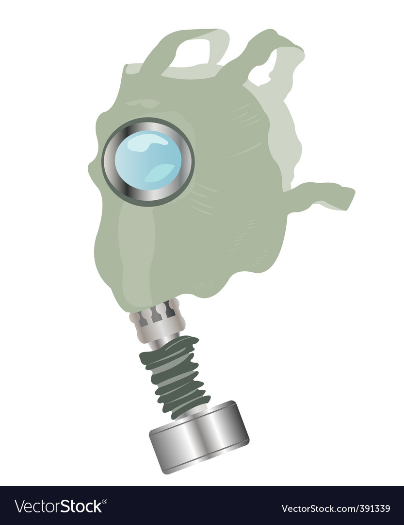 Gas mask on white background vector | Price: 1 Credit (USD $1)