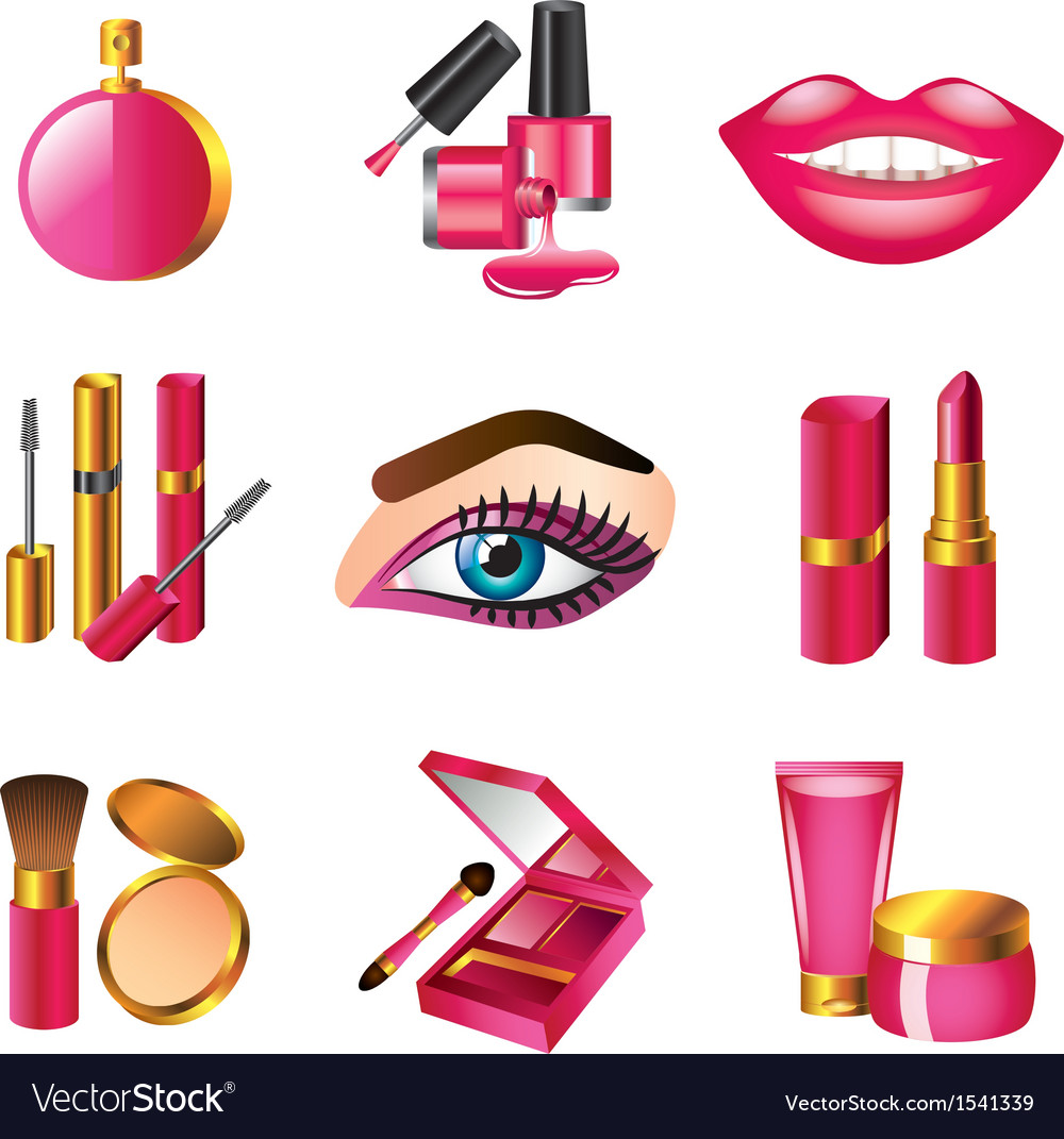 Icons cosmetics vector | Price: 3 Credit (USD $3)