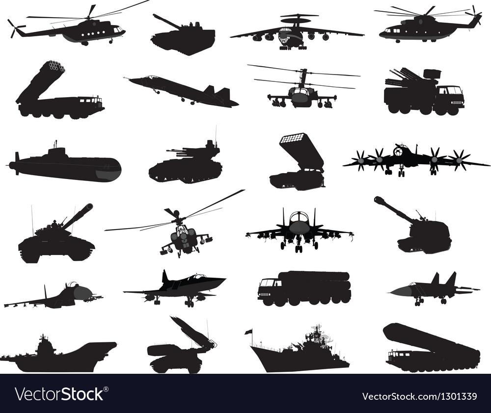 Military set vector | Price: 1 Credit (USD $1)