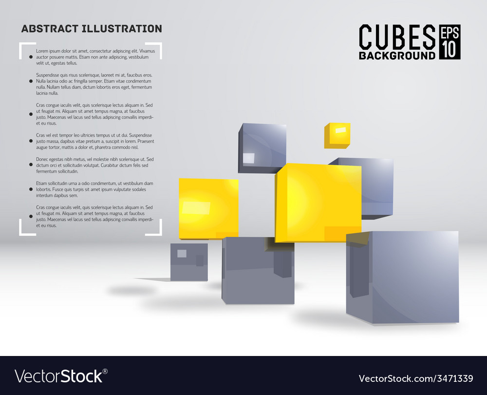 Realistic cubes background concept vector   Price: 1 Credit (USD $1)