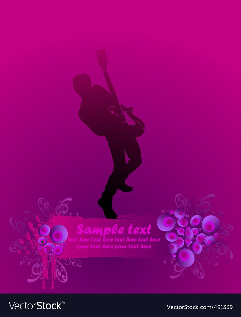Rock guitarist poster vector   Price: 1 Credit (USD $1)