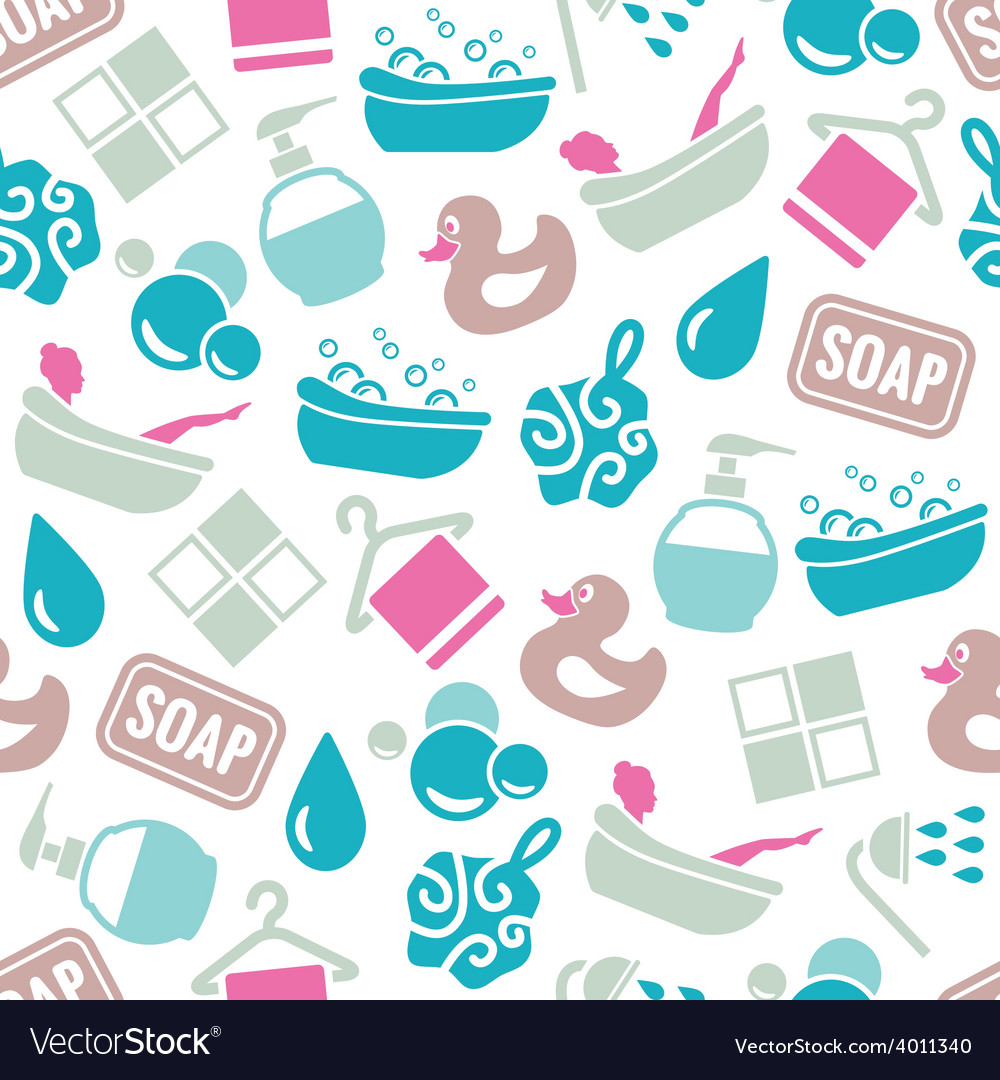 Bath seamless pattern vector | Price: 1 Credit (USD $1)