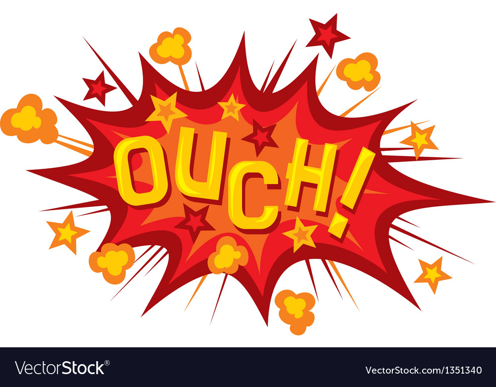 Cartoon - ouch vector   Price: 1 Credit (USD $1)