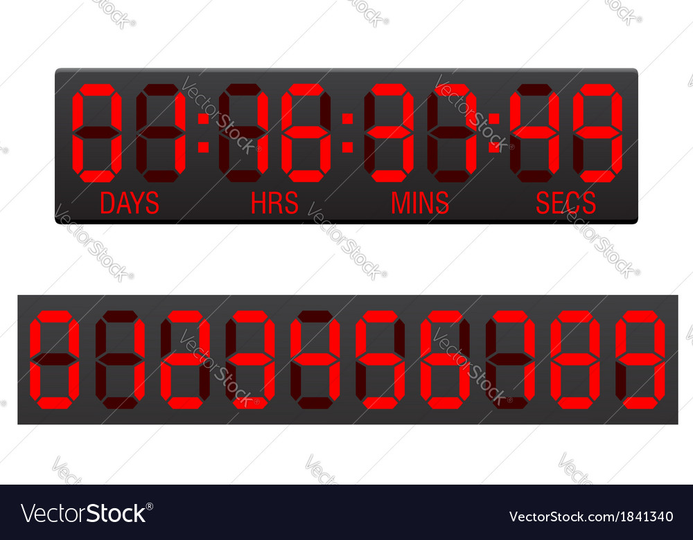 Digital countdown timer 03 vector | Price: 1 Credit (USD $1)
