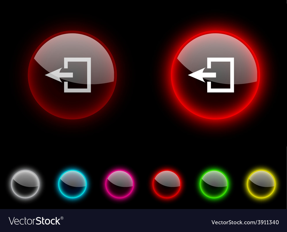 Exit button vector | Price: 1 Credit (USD $1)