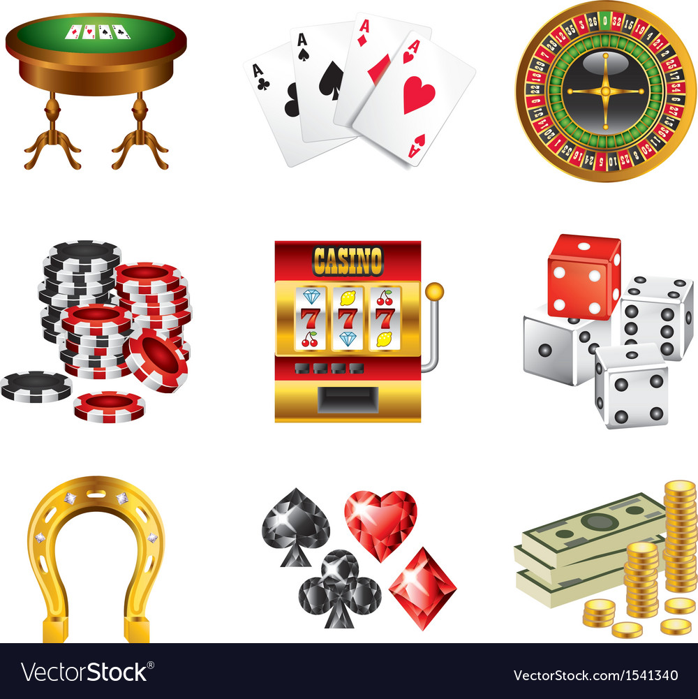 Icons casino vector | Price: 3 Credit (USD $3)