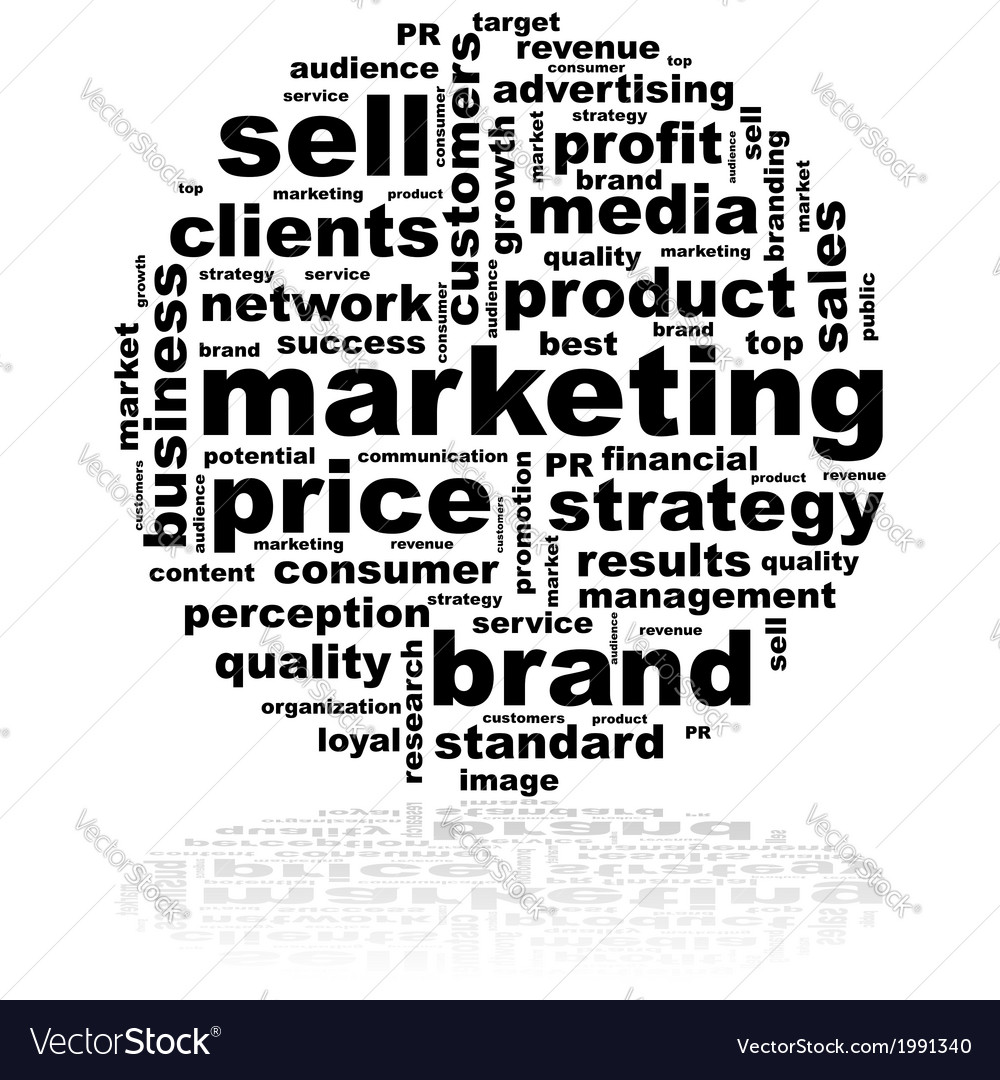 Marketing word cloud vector | Price: 1 Credit (USD $1)