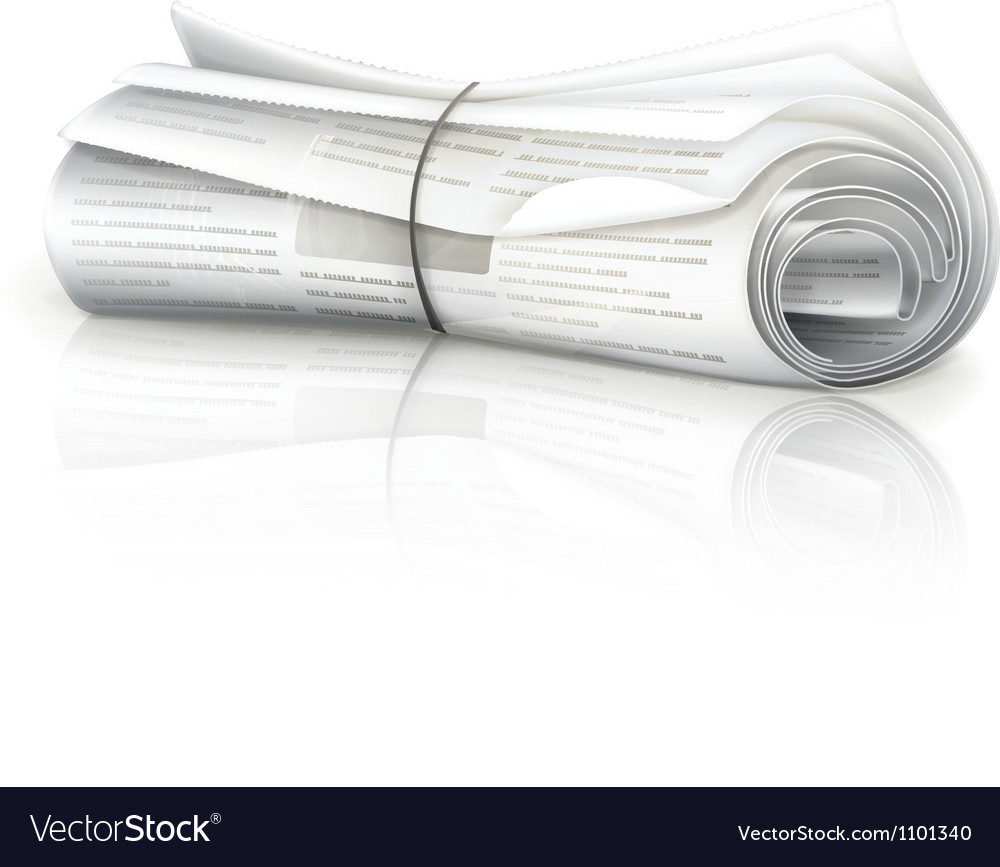 Rolled newspaper vector | Price: 1 Credit (USD $1)