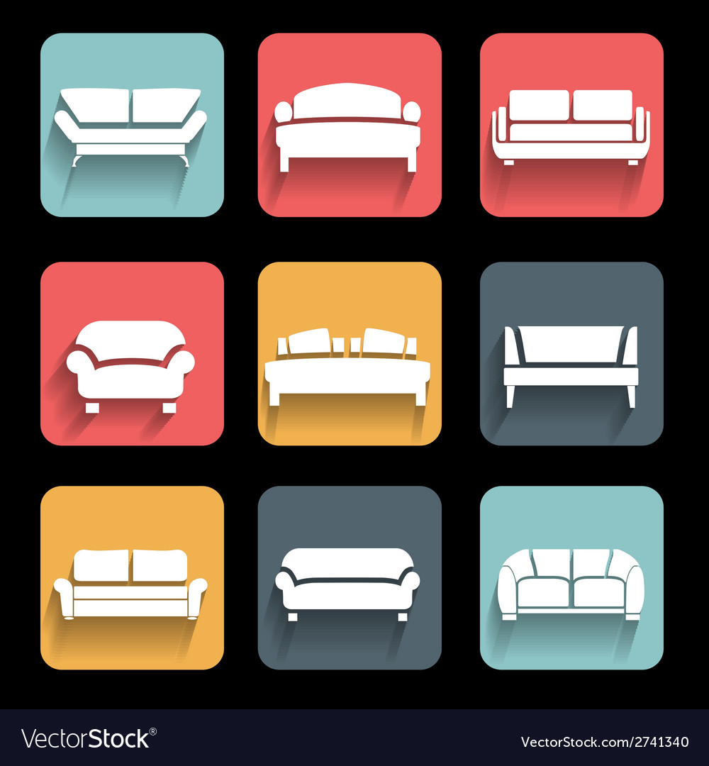 Sofa vector | Price: 1 Credit (USD $1)