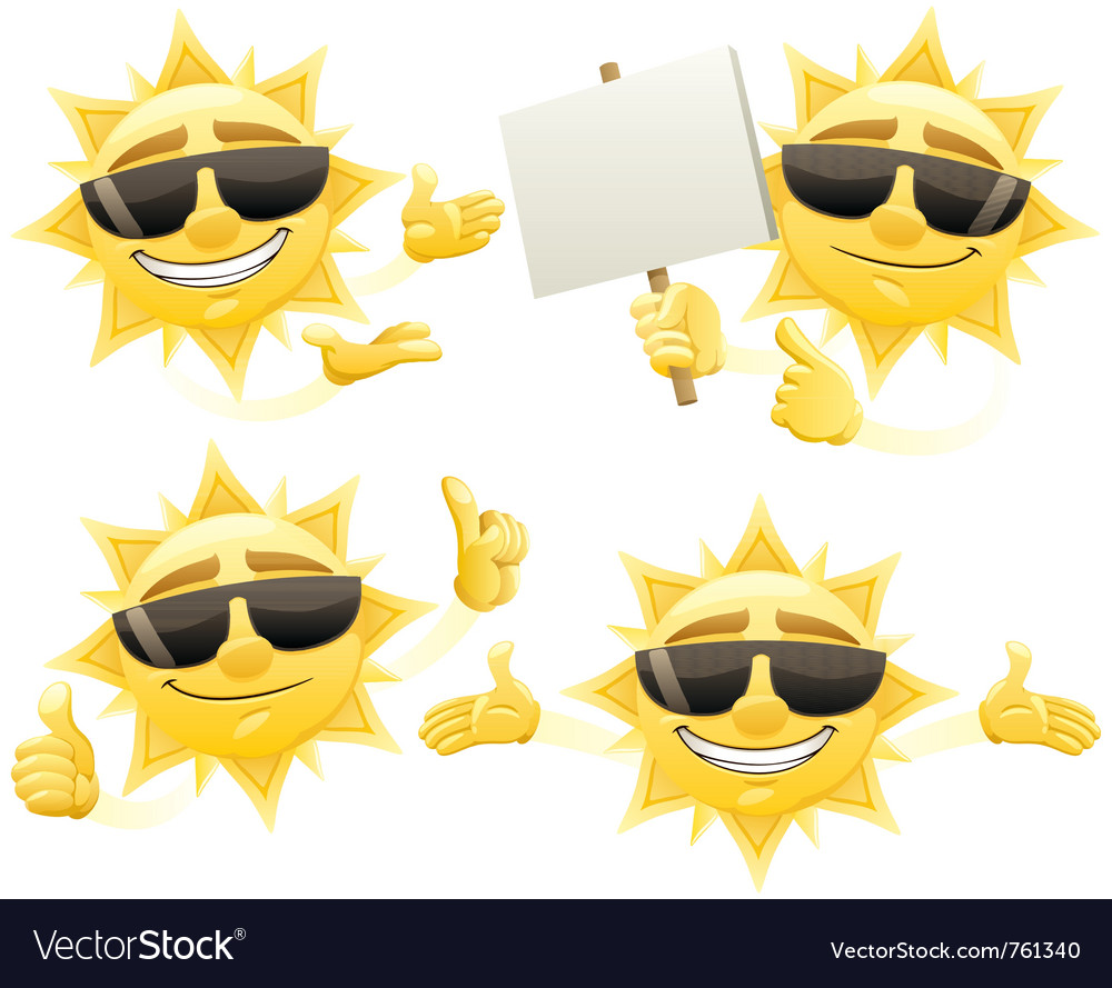 Sun presenting vector | Price: 3 Credit (USD $3)