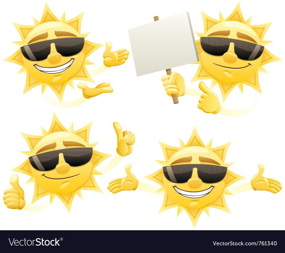 Sun presenting vector