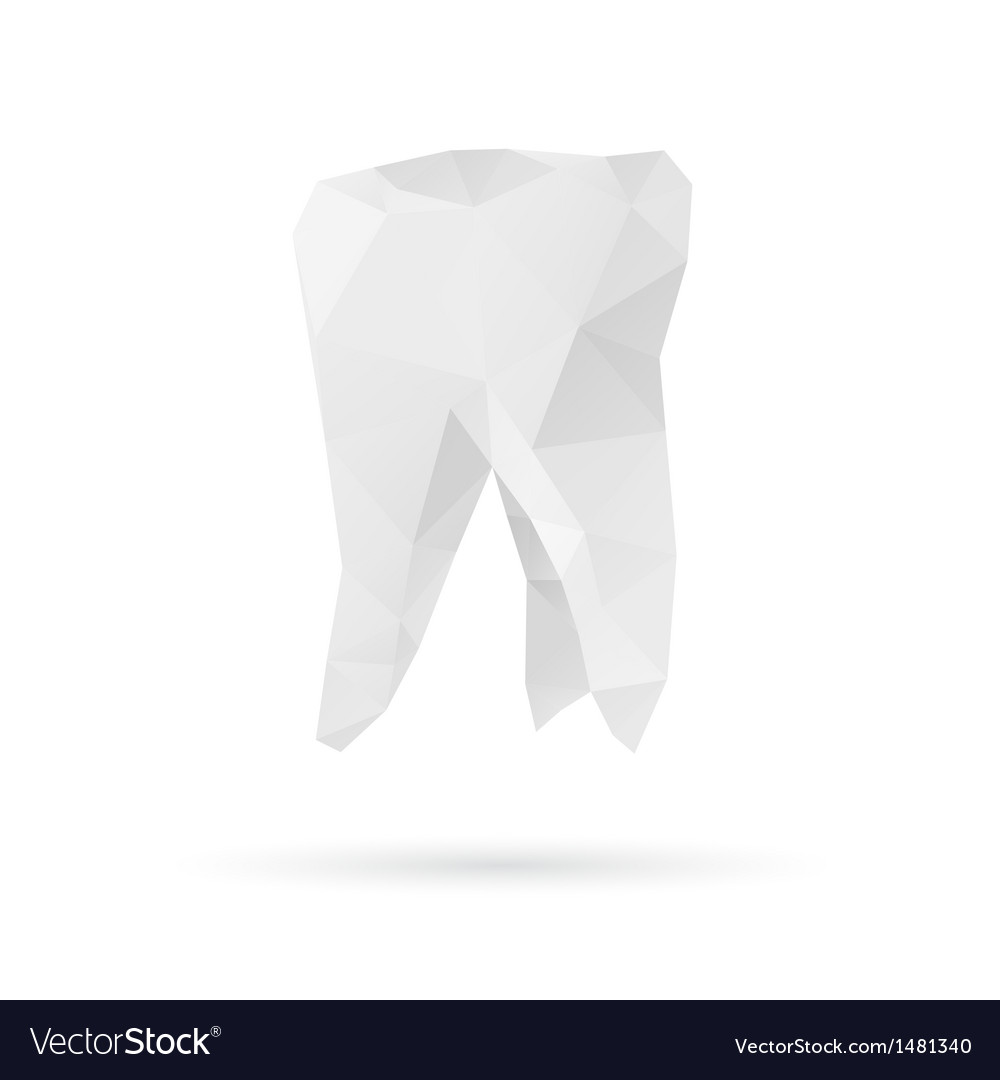 Tooth abstract isolated on a white backgrounds vector | Price: 1 Credit (USD $1)