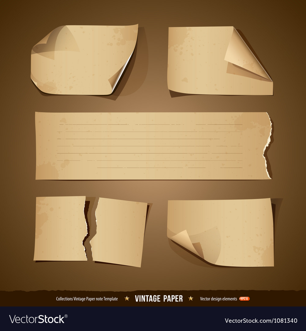 Vintage paper collections empty template vector | Price: 1 Credit (USD $1)