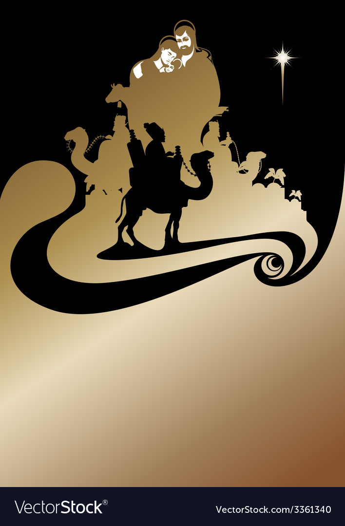 Wise men gold vector | Price: 1 Credit (USD $1)