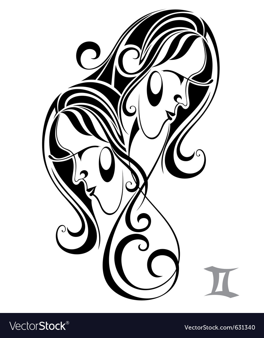 Zodiac signs - gemini vector | Price: 1 Credit (USD $1)