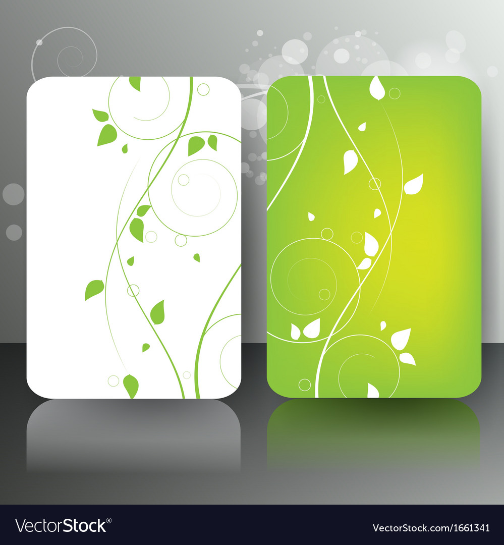 Abstract card with floral background vector | Price: 1 Credit (USD $1)