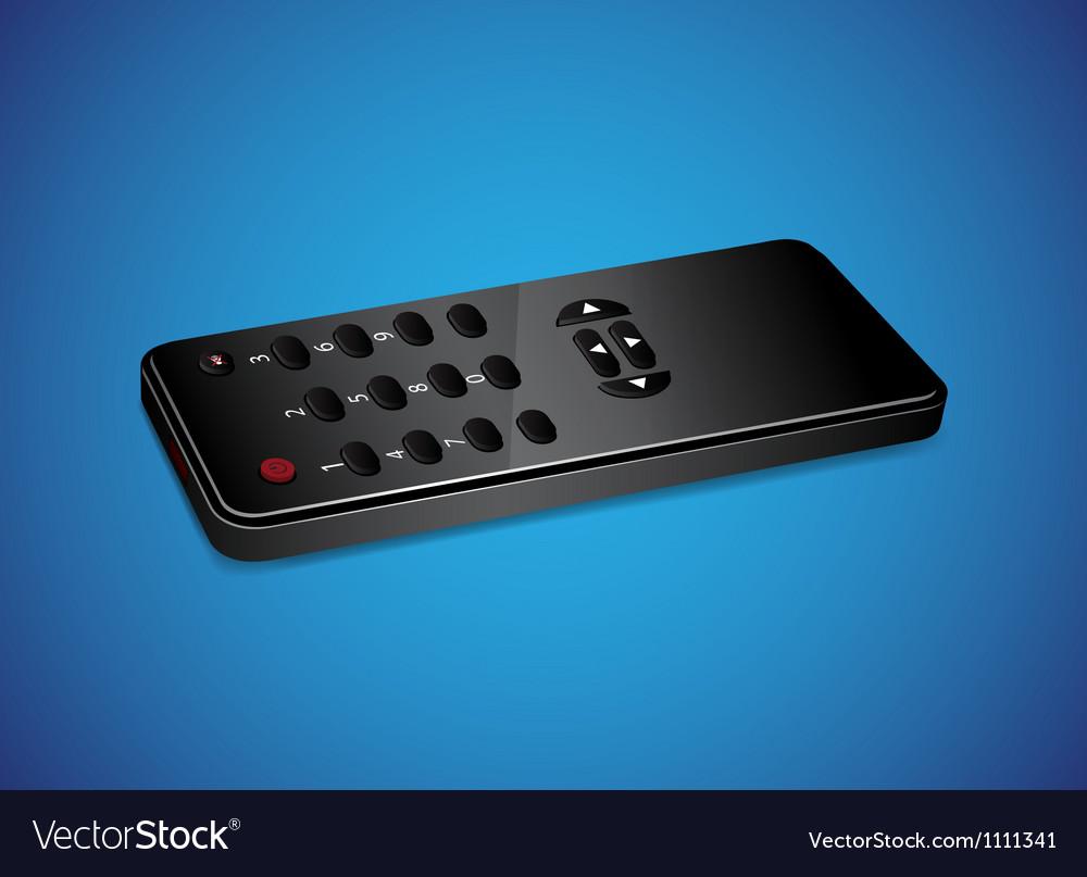 Black remote controller vector | Price: 1 Credit (USD $1)