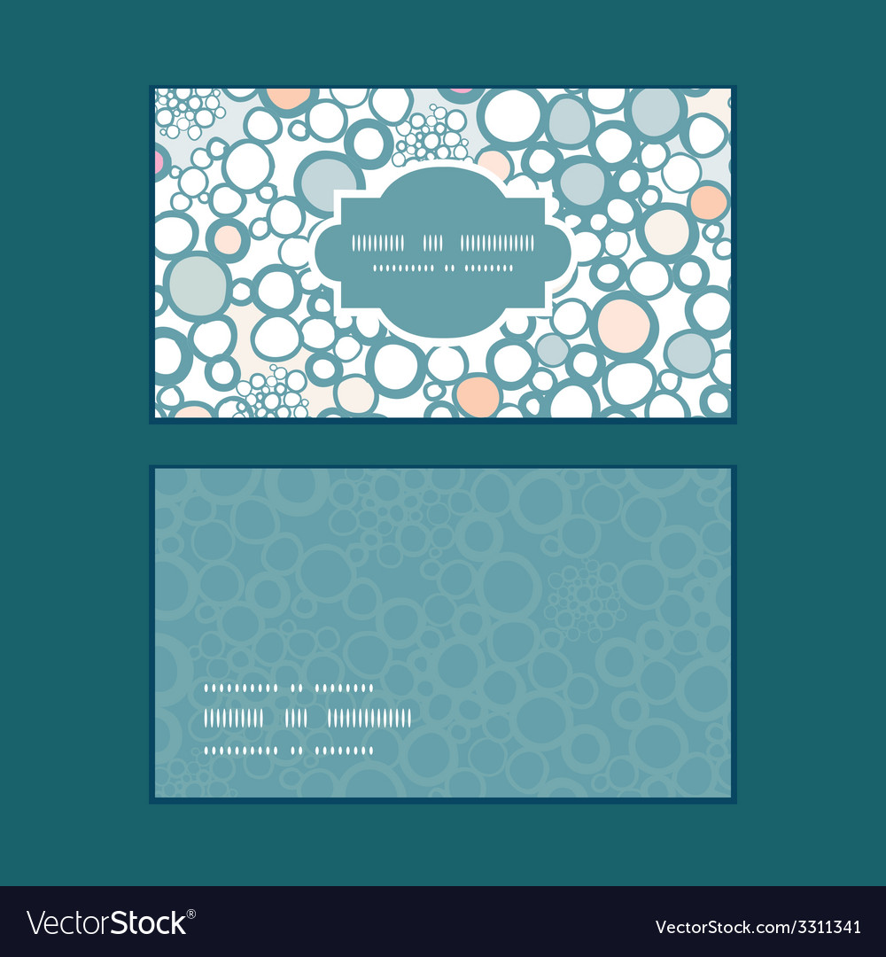 Colorful bubbles horizontal frame pattern business vector | Price: 1 Credit (USD $1)