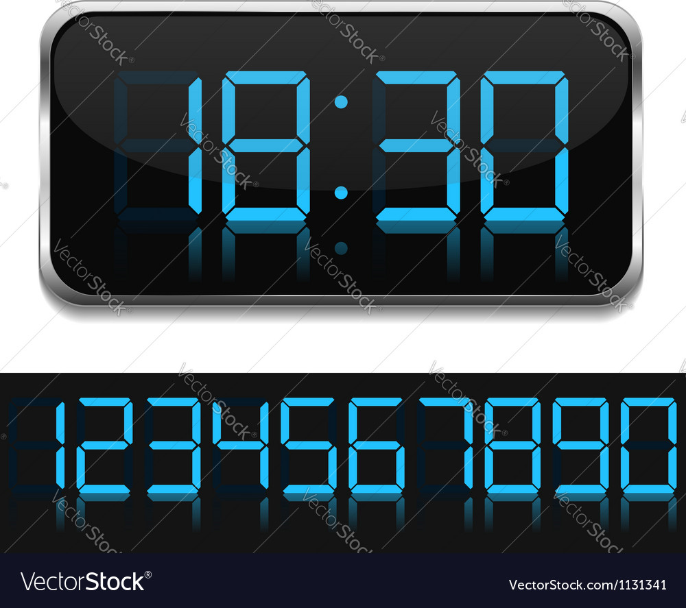 Digital clock vector | Price: 1 Credit (USD $1)