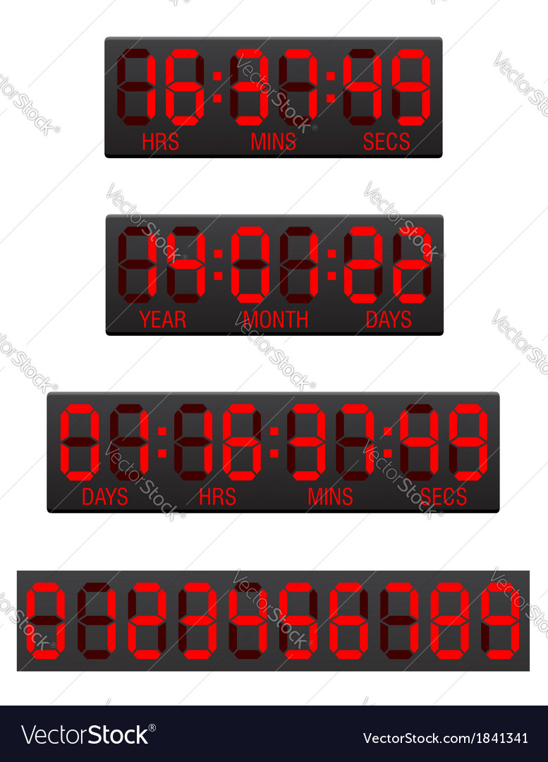 Digital countdown timer 04 vector | Price: 1 Credit (USD $1)